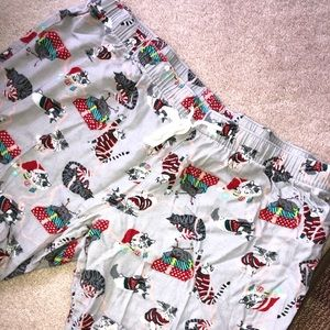 Kitty cat flannel bottoms